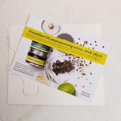 Presentkort Öppen exklusiv pepparprovning (12 sorter)