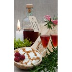 Autumn Raspberry Schnapps and liqueurs with rosemary