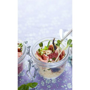 Fig & salami salad with roasted hazelnuts & honey vinaigrette