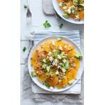 Apelsinsallad med avokado, krasse & kumminvinägrett