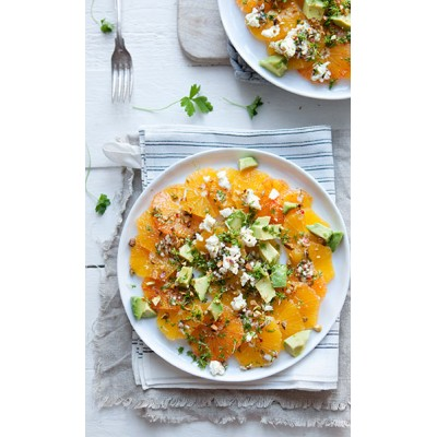 Orange Salad with avocado, watercress & cumin vinaigrette